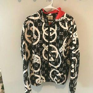 Gucci XXL Black & White Windbreaker Jacket